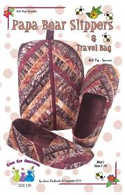 Papa Bear Slippers & Travel Case Pattern Quilted Slippers and & Like this item? Adamdwight.com