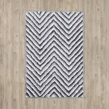 arceo hand tufted gray chevron rug
