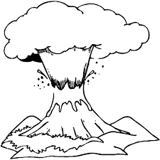 coloring page volcano nature 14 printable coloring pages