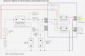 80 series land cruiser headlight wiring modified wiring