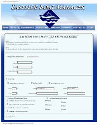 estimate format selection page eastside boat manager pdf estimate form eastside boat manager estimate sheet cgi format
