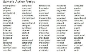 What Are Action Verbs List Action Verbs List Acepeople Co