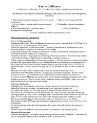 Apartment Manager Resume Sample Sample Property Manager Resume
