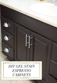 diy java espresso gel stain cabinets oak