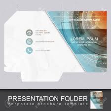 Presentation Folder Design Vector Presentation Folder Design Template Can Be Used For Business