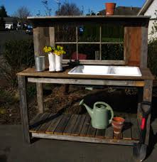 Potting Benches Garden Potting Bench Potting Bench With Sink Rustic Window Sink