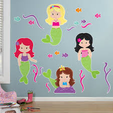 51 mermaid wall decal about mermaid swimming bathroom wall stickers wall art decal transfers mcnettimages com