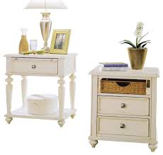 american drew camden light side table with nightstand in white painted