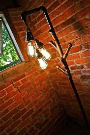 Floor Lamp Coat Rack POSSUM BELLY INDUSTRIAL FLOOR LAMP COAT RACK Oilfield Slang DIY 33
