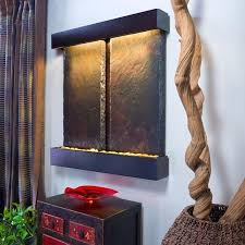 indoor wall water fountains. Duet Falls Indoor Wall Mounted Water Fountain - Soothing Walls Fountains