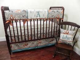 woodland animals crib bedding set asher