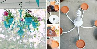 how to make a chandelier planter 1