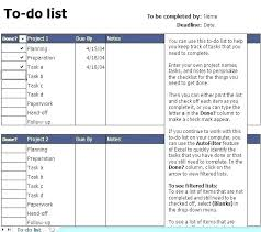 Daily To Do List Template Excel Sample Task Free Templates