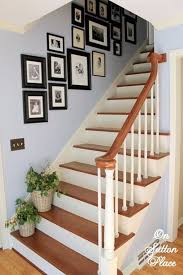 must try stair wall decoration ideas 48