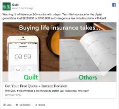 Online Quote For Life Insurance Extraordinary 48 Facebook Ads in the Insurance Industry and What We Think of Them