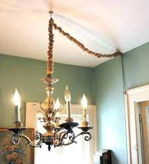 chandeliers chandelier chain cover cord hang a without by converting to lamp and then covering