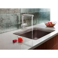 Blanco Kitchen Faucet Reviews Blanco Linus Single Handle Standard Kitchen Faucet In Satin Nickel