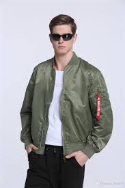 2017 new ma 1 flight er jacket for men military olive green army windbreak air force flying plain pilot korean jacket with 27 56 piece on