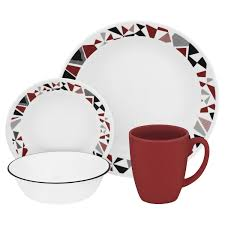 Full Size of Tableware Glass Dinnerware Sets Christmas Crockery Set Red White Contemporary : Dinner Service