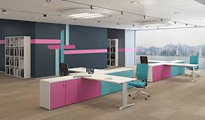 compact office furniture. Multiple Office Workstation For Open Space COMPACT | Compact Collection By Arcadia Furniture M