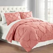 Buy Coral Comforter from Bed Bath & Beyond & Pintuck Full/Queen Comforter Set in Coral Adamdwight.com