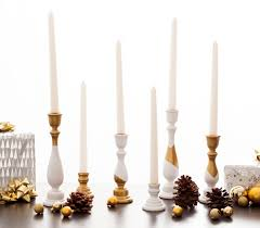 Diy Gold Candle Holders Diy White And Gold Candle Holders In Under An Hour Brit Co