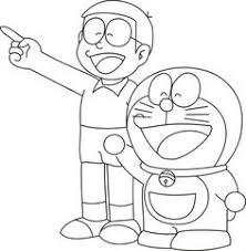 A micro room of doraemon & nobita. Coloring Book For Kids Doraemon