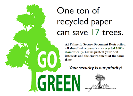 palmetto secure document destruction go green