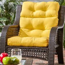 Endearing Outdoor High Back Chair Cushions High Back Outdoor Chair