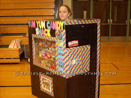 Homemade Candy Vending Machine Enchanting Homemade Vending Machine Costume That Actually Dispenses Candy