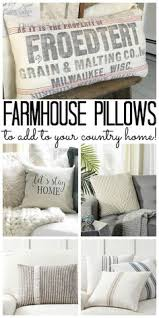 Couch pillow ideas Brown Couch Add These Farmhouse Pillows To Your Country Home Country Farmhouse Decor Country Chic Cottage Pinterest 170 Best Pillow Ideas Images In 2019 Pillow Ideas Scatter
