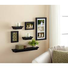 Floating Shelves For Picture Frames New Cute Mix Of Floating Shelves And Picture Frames Mainstays 32Piece