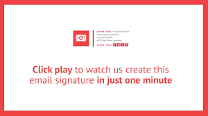 Email Signature Html Watch Us Create This Html Email Signature In Just One Minute Youtube