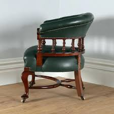 reproduction office chairs. Desk Chairs Victorian Mahogany Chair Circa Antique Oak Swivel Reproduction Office Green Leather Tub Library Captains