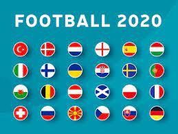 European football 2020 tournament flag set. Vector country flag set for  soccer championship. 2153350 Vector Art at Vecteezy