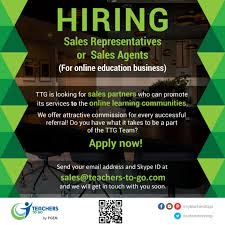 Hiring Sales Rep Hiring Sales Representatives Or Sales Agents Teachers To