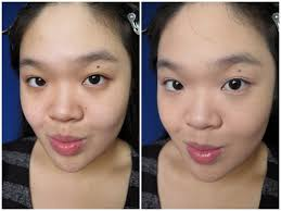 before and after wearing catrice 12h matt mouse make up in 010 soft ivory
