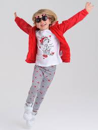 <b>Комплект</b>: <b>Леггинсы</b>, ветровка, футболка для девочки PlayToday ...