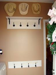 Coat Rack Shelf Diy Simple DIY Mud Room Coat Rack