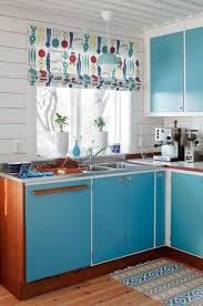 Blue Mid Century Kitchen