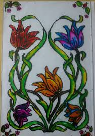 glass painting designs glass painting work conducted for kids in their vacations