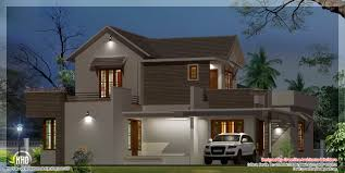 night view of modern house