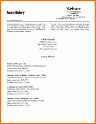 13 Salary History Template Academic Resume For In Cover Letter
