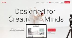 online format format an online portfolio platform designed for creative minds