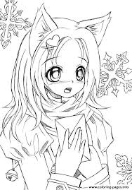 Cute Girl Coloring Pages Inspirational Unique Anime Coloring Pages