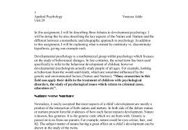 nature or nurture essay nature nurture essay document in a level and ib psychology