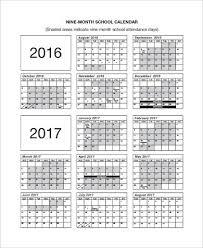 Free Printable School Calendar | Kicksneakers.co