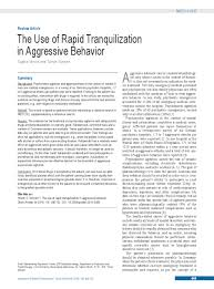 Rapid Tranquillisation Flow Chart The Use Of Rapid Tranquilization In Aggressive Behavior