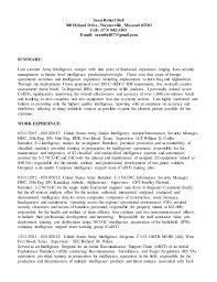 Competitive Intelligence Analyst Resumes And Cover Letters