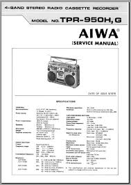 aiwa tpr 950 service manual analog alley manuals